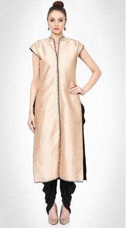 Awe Inspiring Light Gold Silk Front Cut Kameez With Dhoti Pant Style SUMS19917
