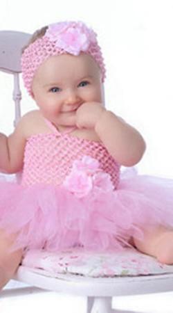 Baby Birthday Party Pink Net Tutu Dress BP0853