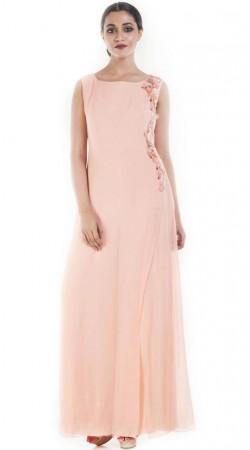 Baby Pink Georgette Plus Size Salwar Kameez SUUDS53030