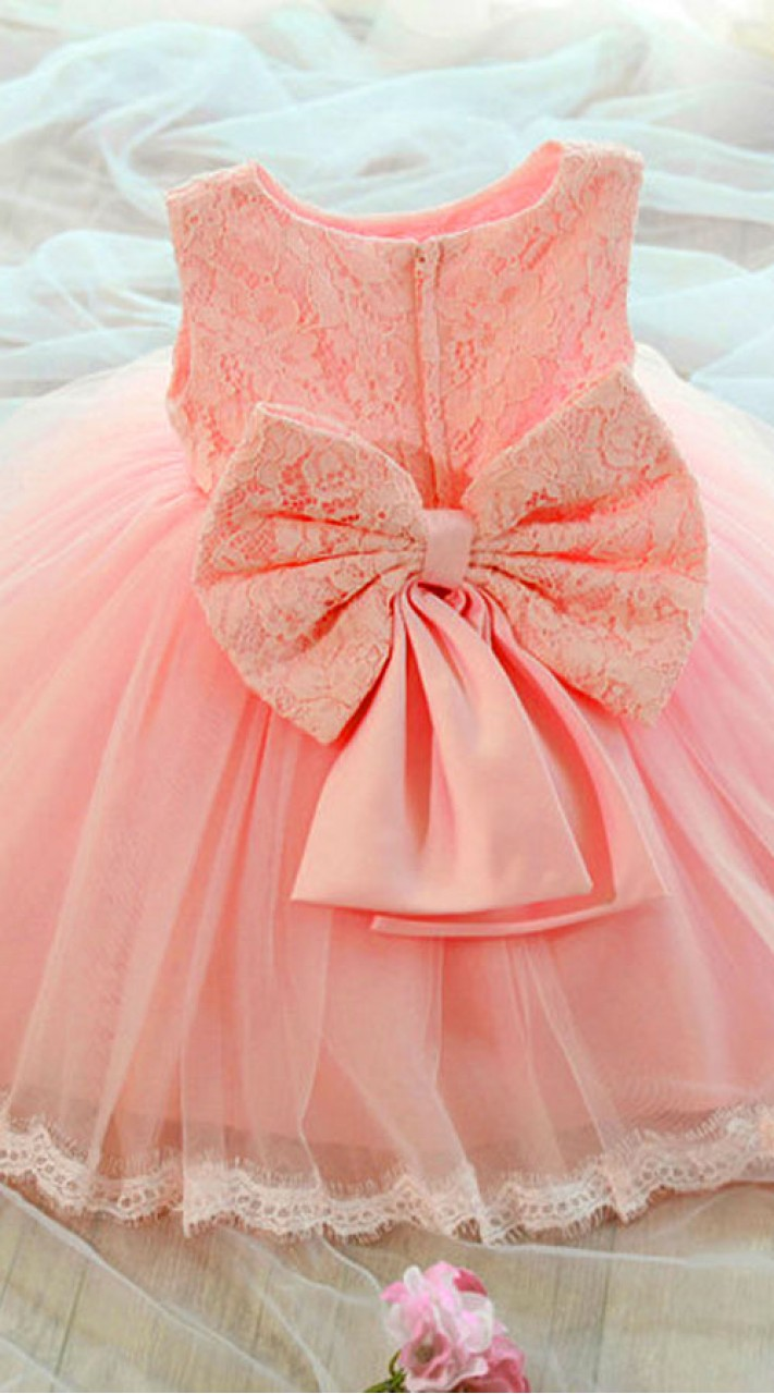Baby Pink Net Little Girl Tutu Dress For Birthday Party Bp0553