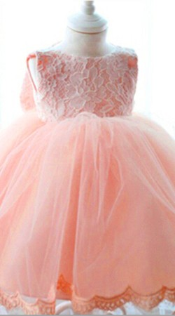 Baby Pink Net Little Girl Tutu Dress For Birthday Party BP0553