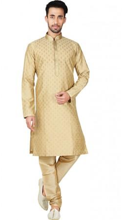 Bangalore Silk Light Beige Men Kurta Pajama GR147111