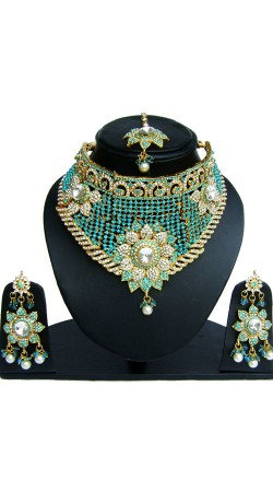 Beautiful Hand Crafted Necklace Set With Tika NNP82206