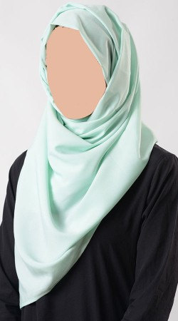 Beautiful Light Aquamarine Crepe Hijab BP0149