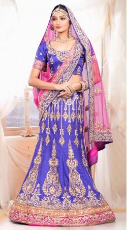 Beautiful Light Purple Raw Silk Wedding Lehenga Choli With Dupatta ZP0205