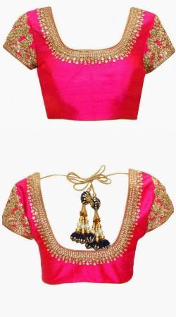 Beautiful Magenta Dori Work Designer Blouse For Saree BP4009