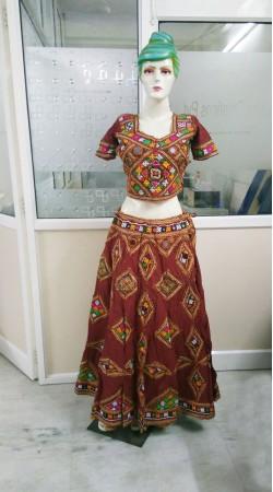Beautiful Maroon Dandiya Dance Navratri Chaniya Choli 2BR668958