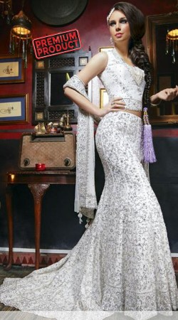 Beautiful Modernity White Designer Heavy Work Lehenga Choli SM0501