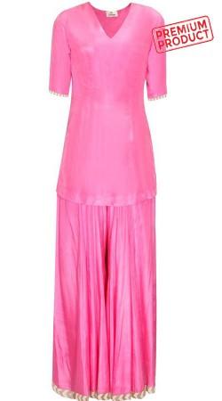 Beautiful Pink Sharara Suit With Dupatta BP0745