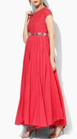 Beautiful Reddish Pink Palazzo Anarkali Suit BP0147