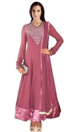 Beautiful Shaded Pink Georgette Party Wear Salwar Kameez SUMA209
