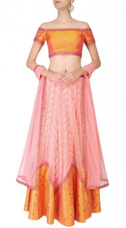 Beautifully Crafted Silk Light Pink Designer Lehenga Choli SUUDL16918