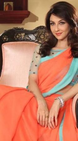 Bhabi Ji Ghar Par Hai Orange Georgette Anita Style Saree BP0430