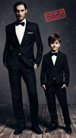 Black Dad And Son Similar Tuxedo Suit BP1144
