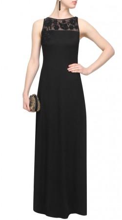 Black Georgette Designer High Netted Kameez SUUDS43020