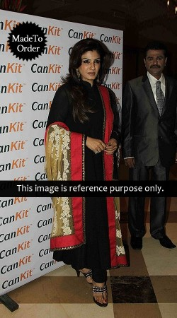 Black Raveena Tandon Replica Bollywood Salwar Kameez 026