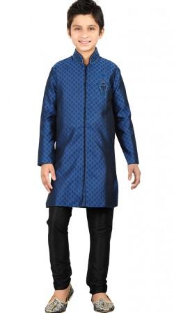 Blue Brocket Kid Boy Kurta Pajama For Party GR24913