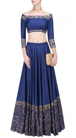 Blue Silk Wedding Lehenga Choli with Dupatta SUUDL25325