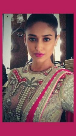 Bollywood Star Ileana DCruz In Cream Premium Fabric Designer Blouse For Saree BP0409