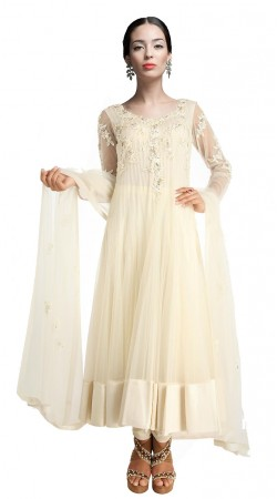 Charming White Net Ankle Length Anarkali Suit SUUDS19002