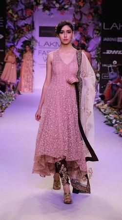 Classy Cream Premium Fabric Designer Replica Long Anarkali Suit BP2404