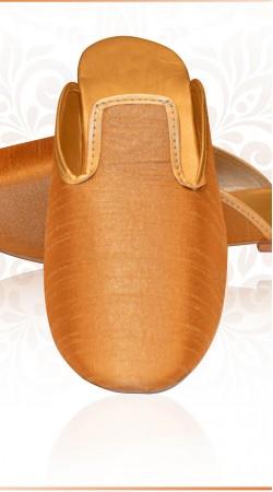 Classy Golden Brown Raw Silk Wedding Mens Jutti For Sherwani ZP0707