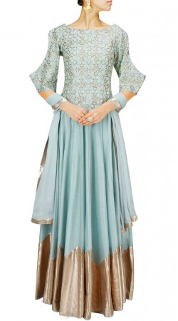 Classy Light Blue Dupion Silk Lehenga Choli With Embroidery Work SUUDL12716