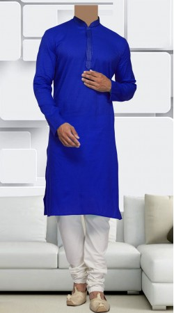 Cotton Blue Men Long Sleeves Kurta Pajama SIDCW446