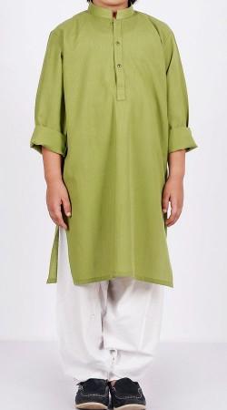 Cotton Green Kurta Pajama For Boy Kid BP2438