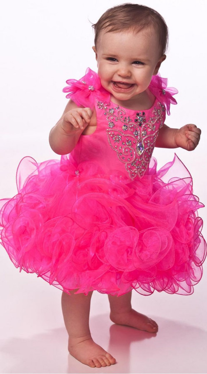 Cute Baby Birthday Party Dress In Pink Color BP1353