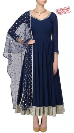 Dark Blue Ankle Length Anarkali Suit SUMS29321
