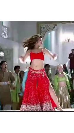 Indian red deepika in dilli wali girlfriend shrara dress