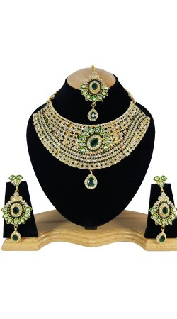 Designer Necklace Set With Maang Tika For Party NNP79605