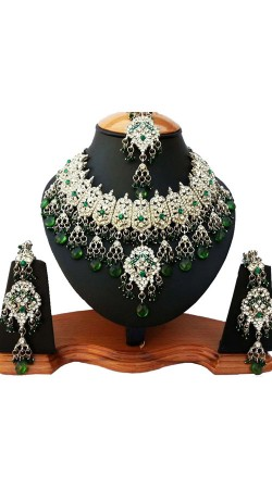 Designer Party Wear Necklace Set With Tika NNP81506