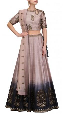 Designer Rosy Brown Silk Plus Size Lehenga Choli SUUDL31231