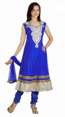 DT200157 Adorable Royal Blue Net Salwaar Kameez