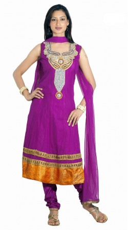 DT200857 Graceful Purplish Magenta Net Salwaar Kameez