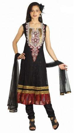 DT201257 Adorable Black Net Salwaar Kameez