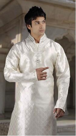 DTDKP1523 Charming Off White Readymade Kurta Pyjama