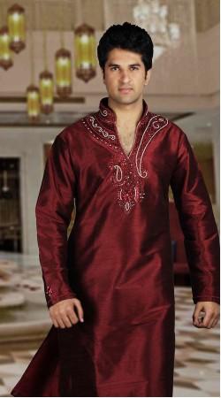 DTDKP1723 Adorable Indian Red Readymade Kurta Pyjama