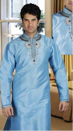 DTDKP1923 Glamorous Light Blue Readymade Kurta Pyjama