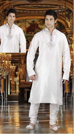 DTDKP2223 Classy Off White Readymade Kurta Pyjama