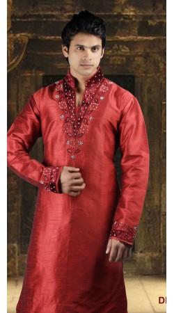 DTDKP2623 Luscious Crimson Readymade Kurta Pyjama
