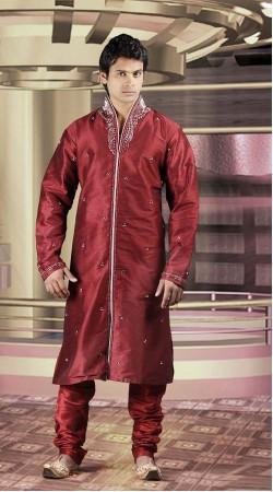 DTDKP2923 Mesmerizing Red Readymade Kurta Pyjama