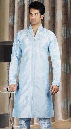 DTDKP3423 Luscious Greyish Blue Readymade Kurta Pyjama