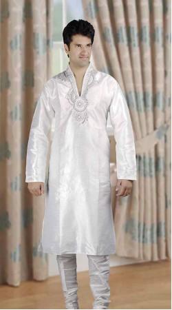 DTDKP523 Mesmerizing White Readymade Kurta Pyjama