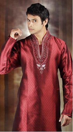 DTDKP923 Adorable Red Readymade Kurta Pyjama