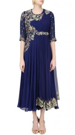 Embroidered Net Blue Designer Anarkali Suit SUUDS43820