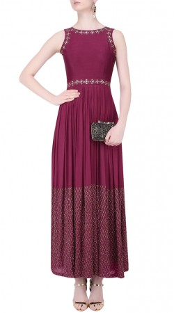 Embroidery Work Dark Magenta Plus Size Salwar Kameez SUUDS45926