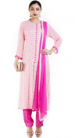 Embroidery Work Light Pink Plus Size Salwar Kameez SUUDS52230